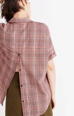 Courier Button-Back Shirt in Hartley Plaid