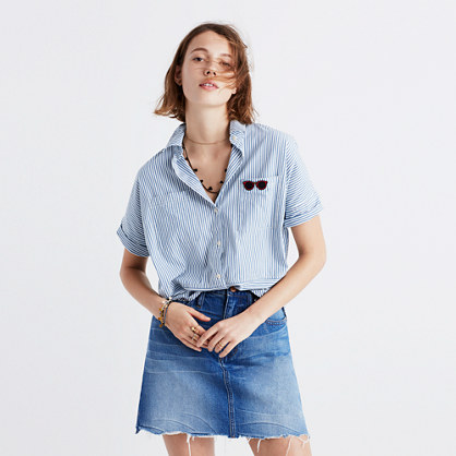4a6d3a5f Shoptagr | Courier Shirt In Stripe Play by Madewell