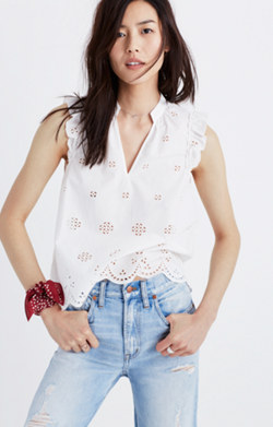 Eyelet Garden Sleeveless Top