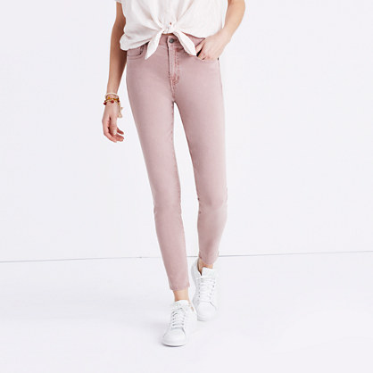 "9"" High-Rise Skinny Crop Jeans: Garment-Dyed Edition"