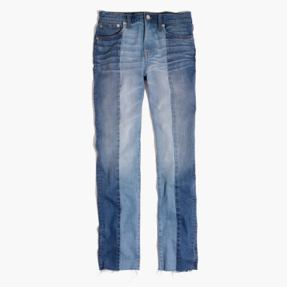 Cruiser Straight Crop Jeans: Two-Tone Edition