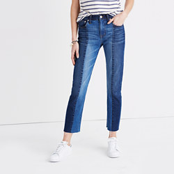 Tall Cruiser Straight Crop Jeans: Two-Tone Edition