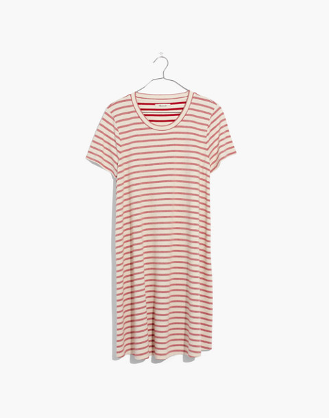 Striped Retreat Dress in flame red image 4