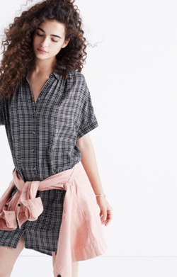 Central Shirtdress in Thompson Plaid