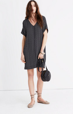 Novel Dress in Chalkboard Stripe