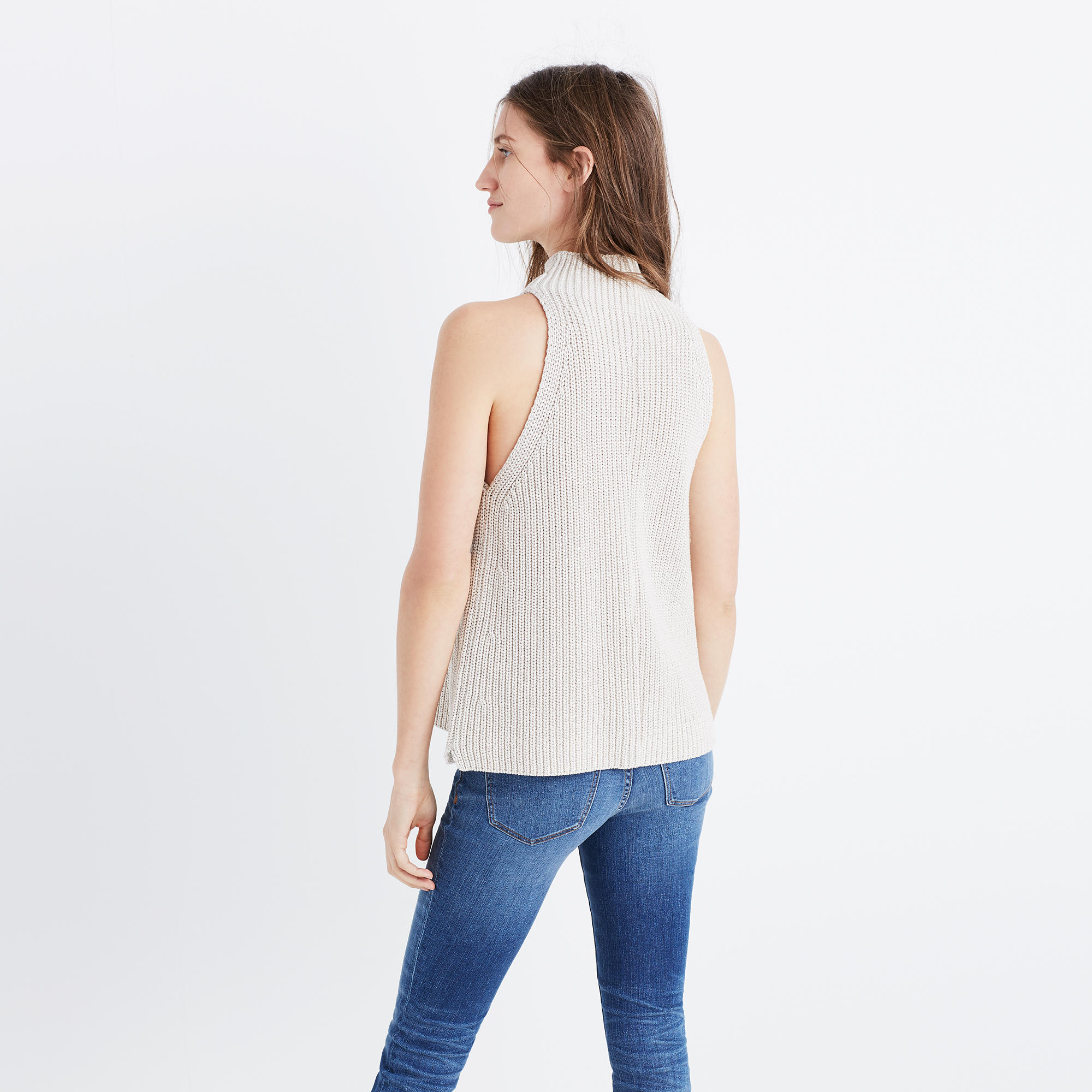 Mockneck Sweater-Vest : sleeveless & short sleeve | Madewell