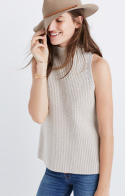 Mockneck Sweater-Vest