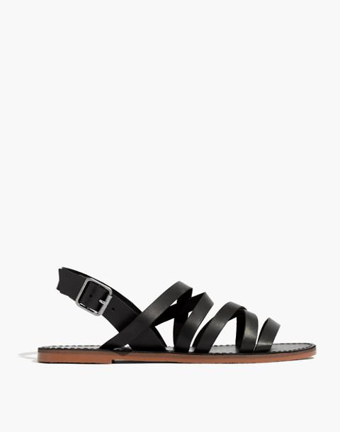 The Boardwalk Multistrap Sandal in true black image 2