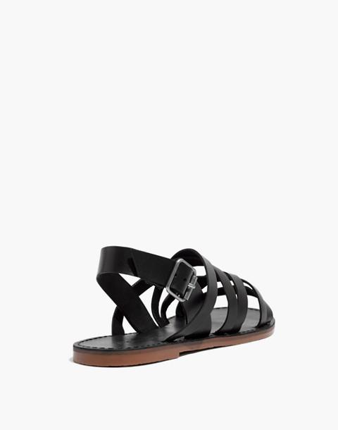 The Boardwalk Multistrap Sandal in true black image 3