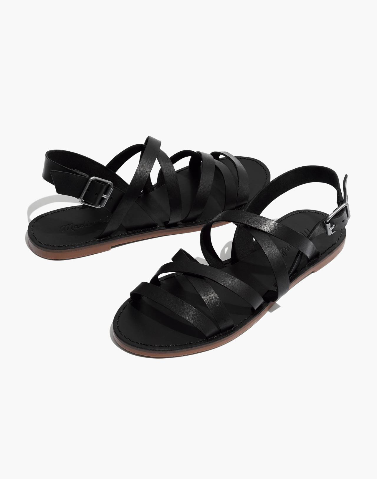 The Boardwalk Multistrap Sandal in true black image 1
