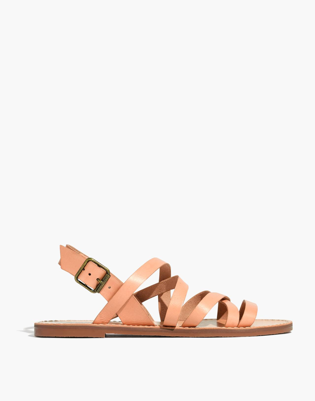 The Boardwalk Multistrap Sandal in natural buff image 3