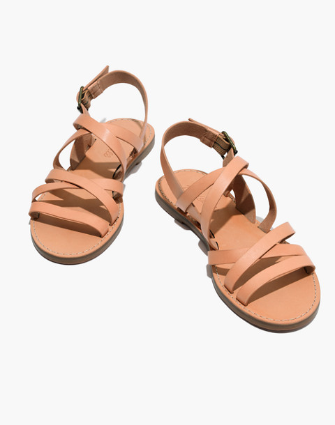 The Boardwalk Multistrap Sandal in natural buff image 1