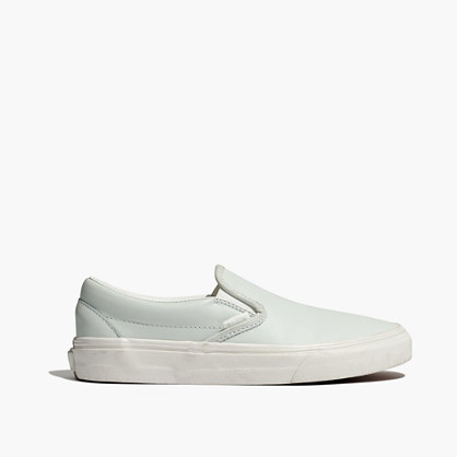 Vans® Unisex Classic Slip-On Sneakers in Mint Leather