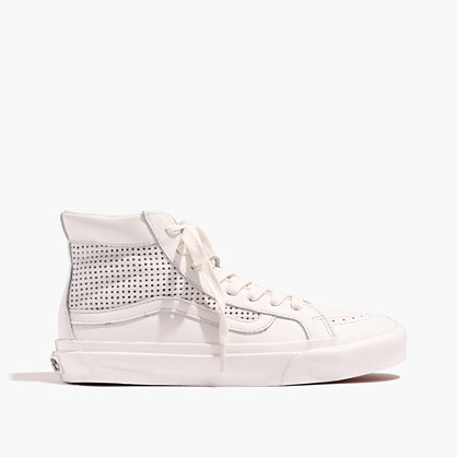 Vans® Unisex Sk8-Hi Slim High-Top Sneakers in Perforated Leather