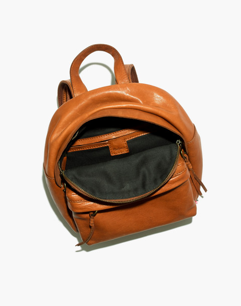 The Lorimer Mini Backpack in english saddle image 2