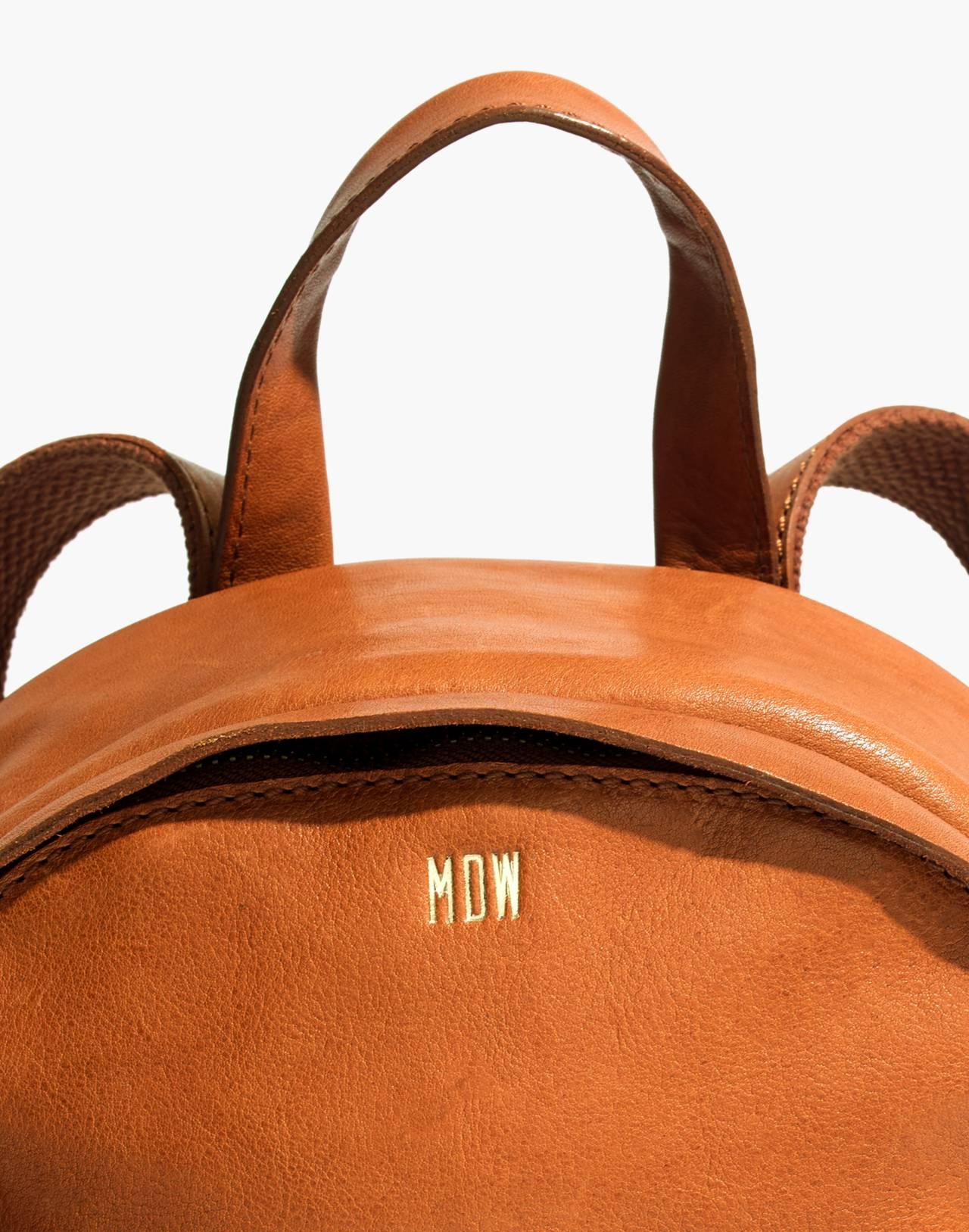 The Lorimer Mini Backpack in english saddle image 3