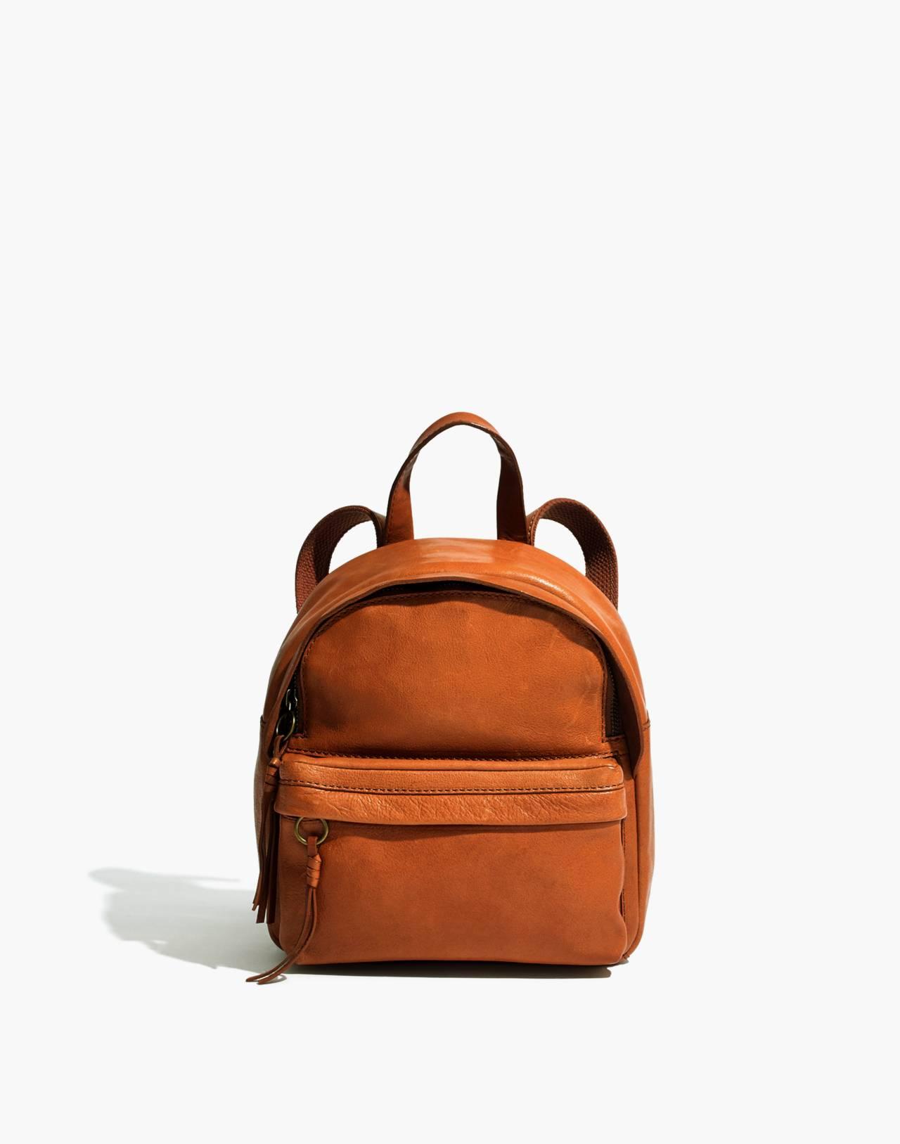 The Lorimer Mini Backpack in english saddle image 1