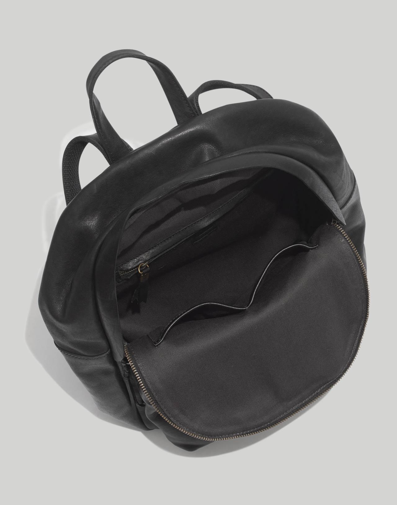 The Lorimer Backpack in true black image 2