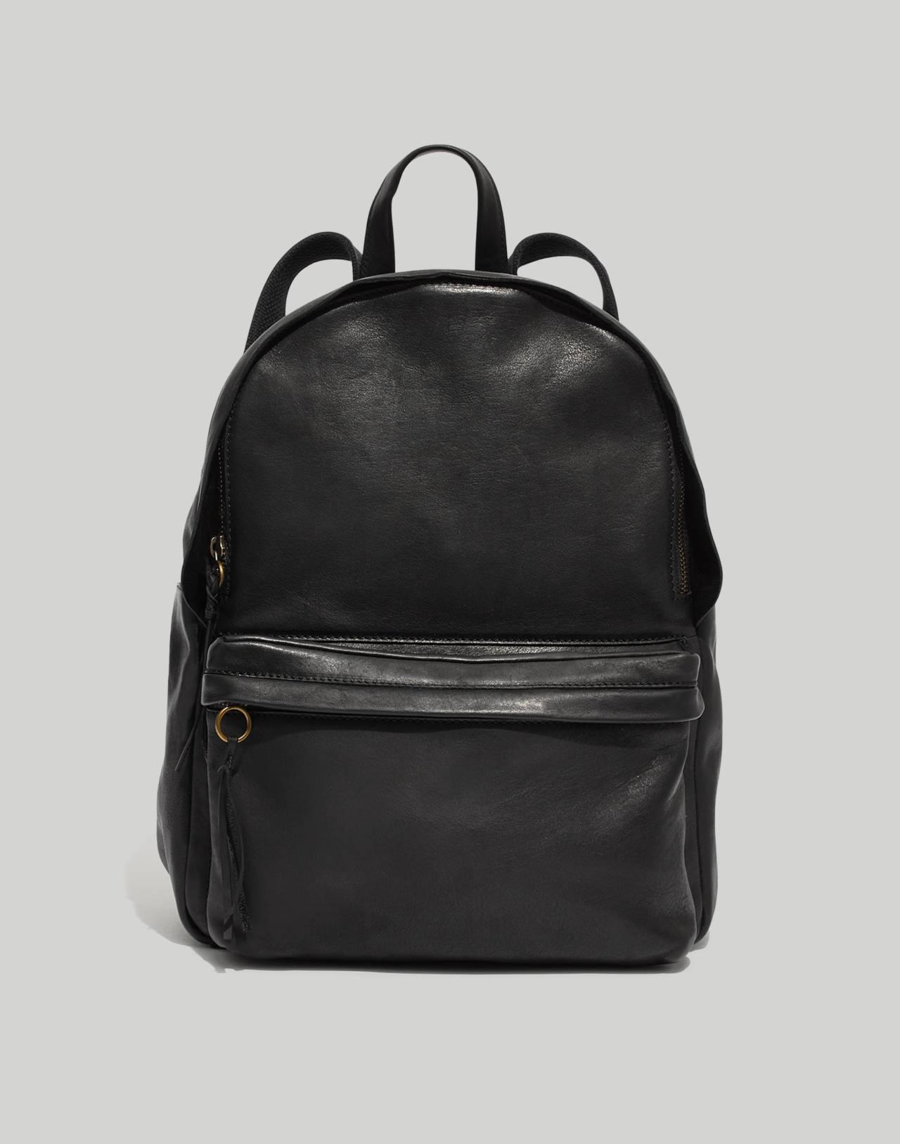 The Lorimer Backpack in true black image 1
