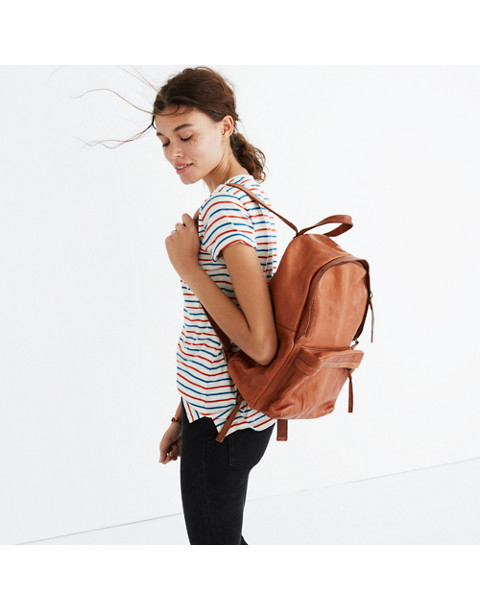 The Lorimer Backpack in english saddle image 2