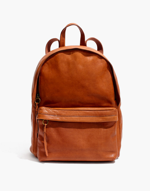 The Lorimer Backpack in english saddle image 1