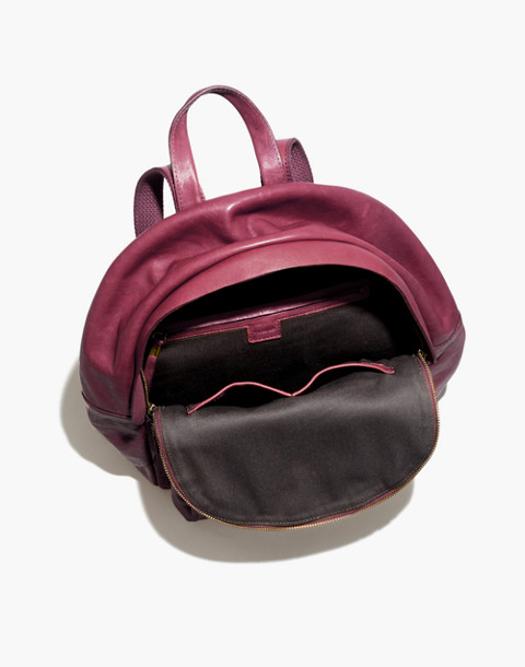 The Lorimer Backpack in dark cabernet image 3