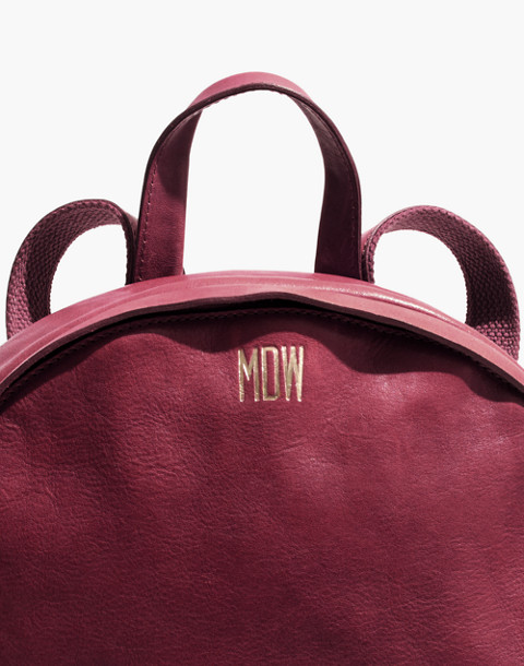 The Lorimer Backpack in dark cabernet image 4