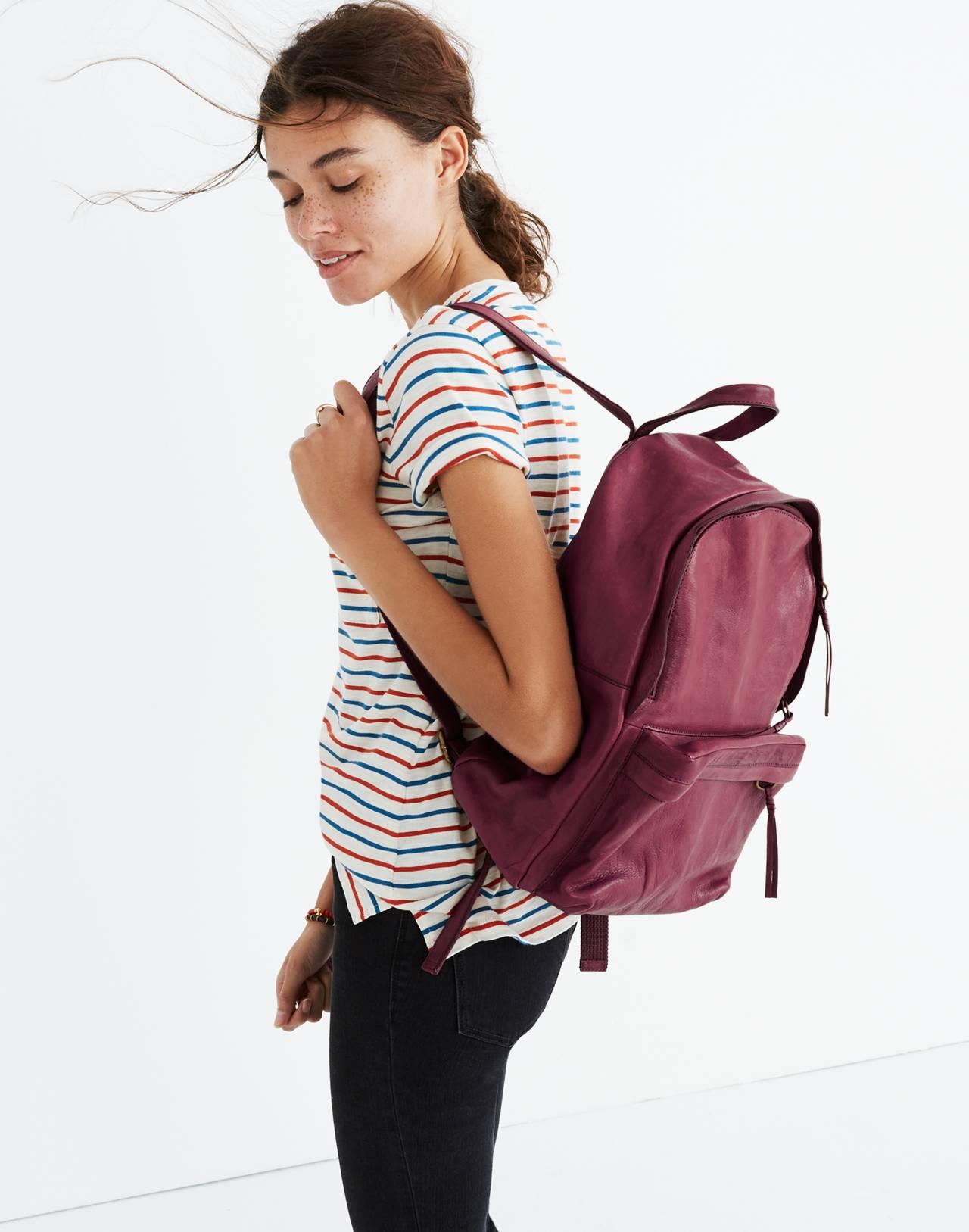 The Lorimer Backpack in dark cabernet image 2