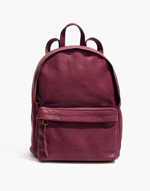 The Lorimer Backpack in dark cabernet image 1