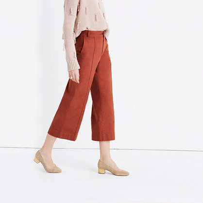 Langford Wide-Leg Crop Pants: Pintuck Edition