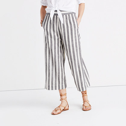 Huston Pull-On Crop Pants in Stripe