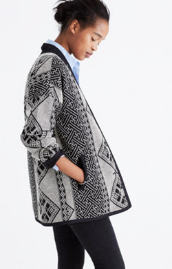 Pre-order Jacquard Cocoon Jacket