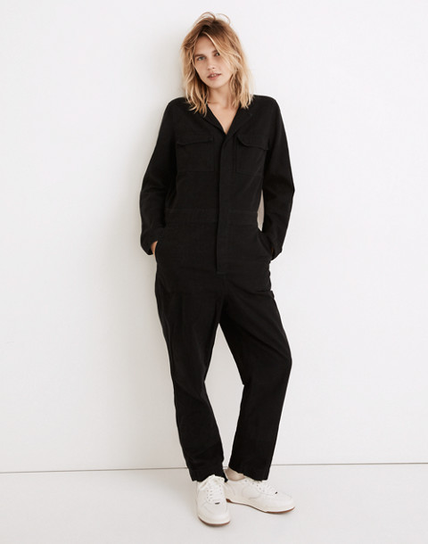 Coverall Jumpsuit in true black image 2