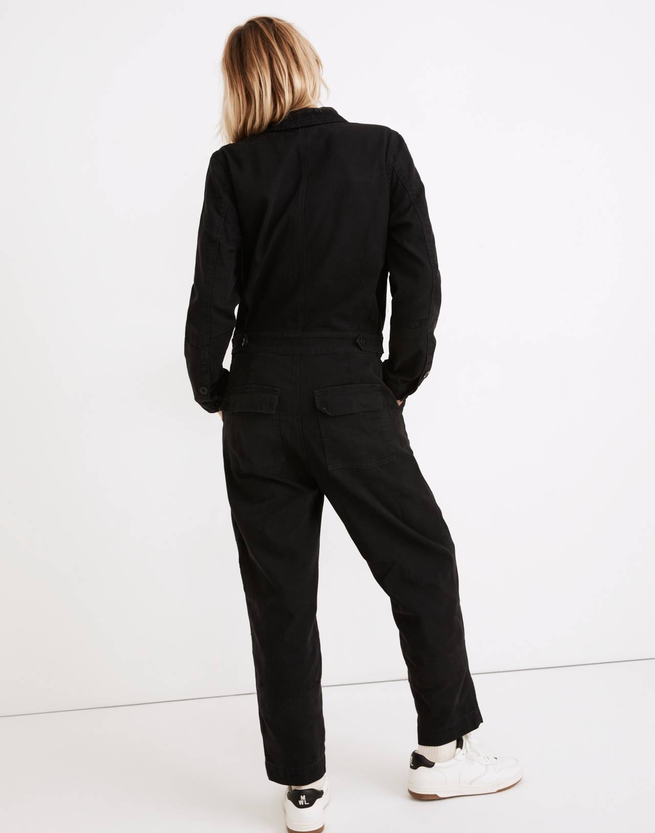 Coverall Jumpsuit in true black image 3