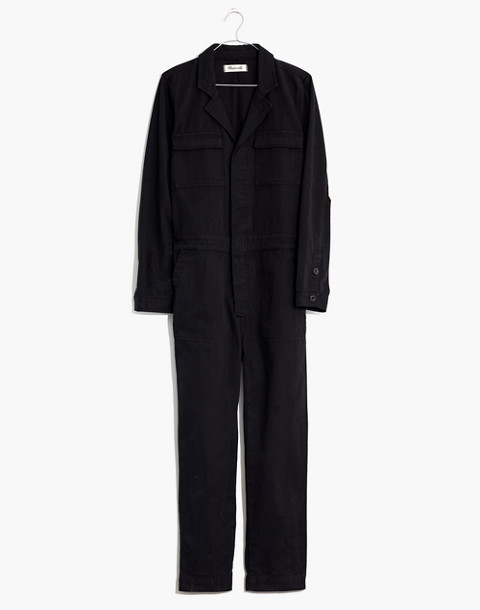 Coverall Jumpsuit in true black image 4