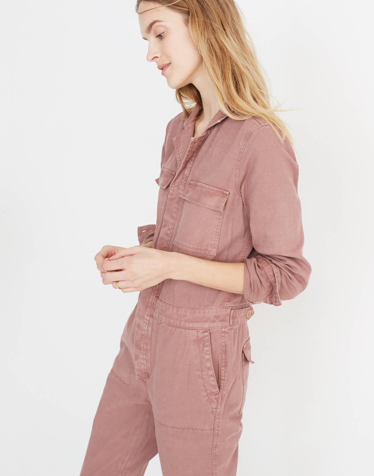 Coverall Jumpsuit in dried rosebud image 2