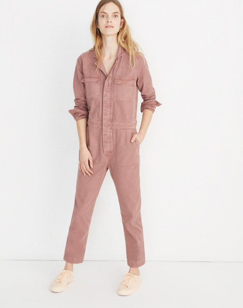 Coverall Jumpsuit in dried rosebud image 1