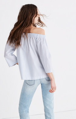 Clean Off-the-Shoulder Top in Stripe