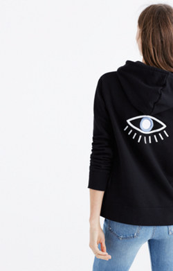 Embroidered Eye Hoodie Sweatshirt