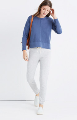 Garment-Dyed Seamed Sweatshirt