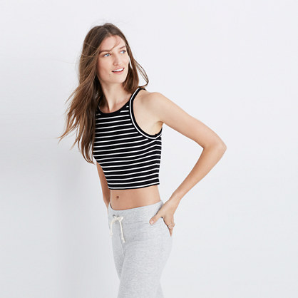 Crop Tank Top in Gabi Stripe