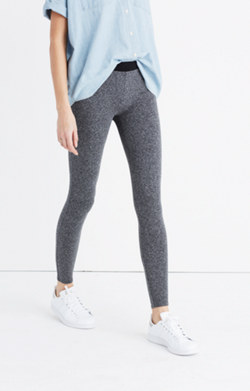 Knit Leggings in Colorblock
