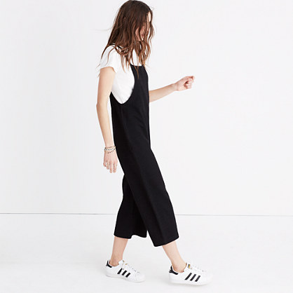 Knit Wide-Leg Overalls