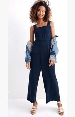 Apron Bow-Back Jumpsuit