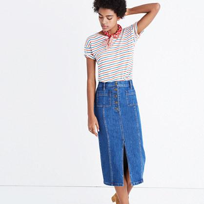 High-Slit Jean Skirt : midi & maxi | Madewell