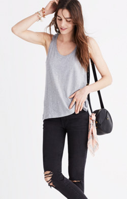 Whisper Cotton Scoop Tank Top