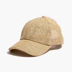 Straw Baseball Cap