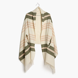Cape Scarf in Valeria Stripe