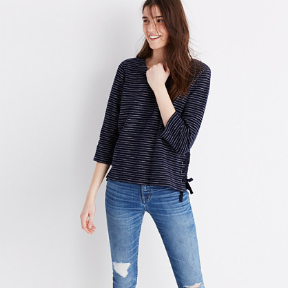 Striped Side-Lace Top