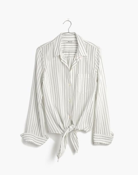 Tie-Front Shirt in Darcy Stripe